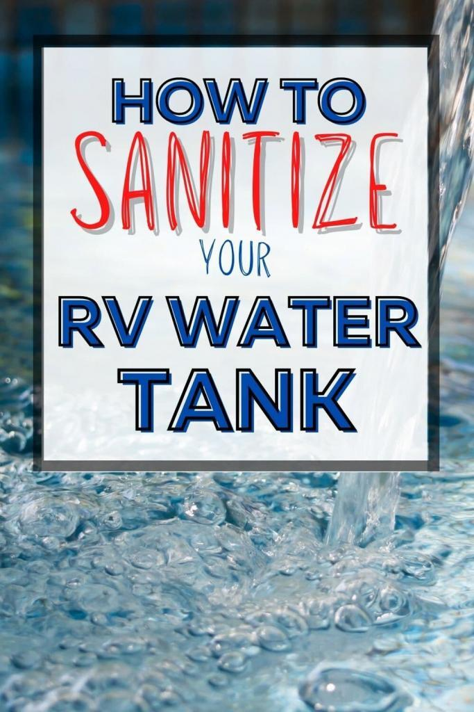 how to sanitize rv water tank