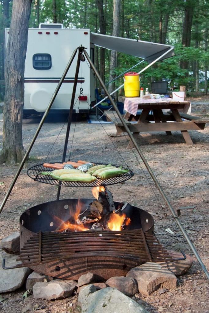 DIY RV outdoor kitchen setup