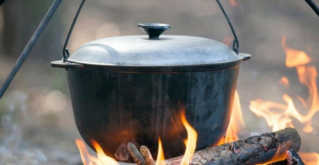 campfire cooking kit equipment