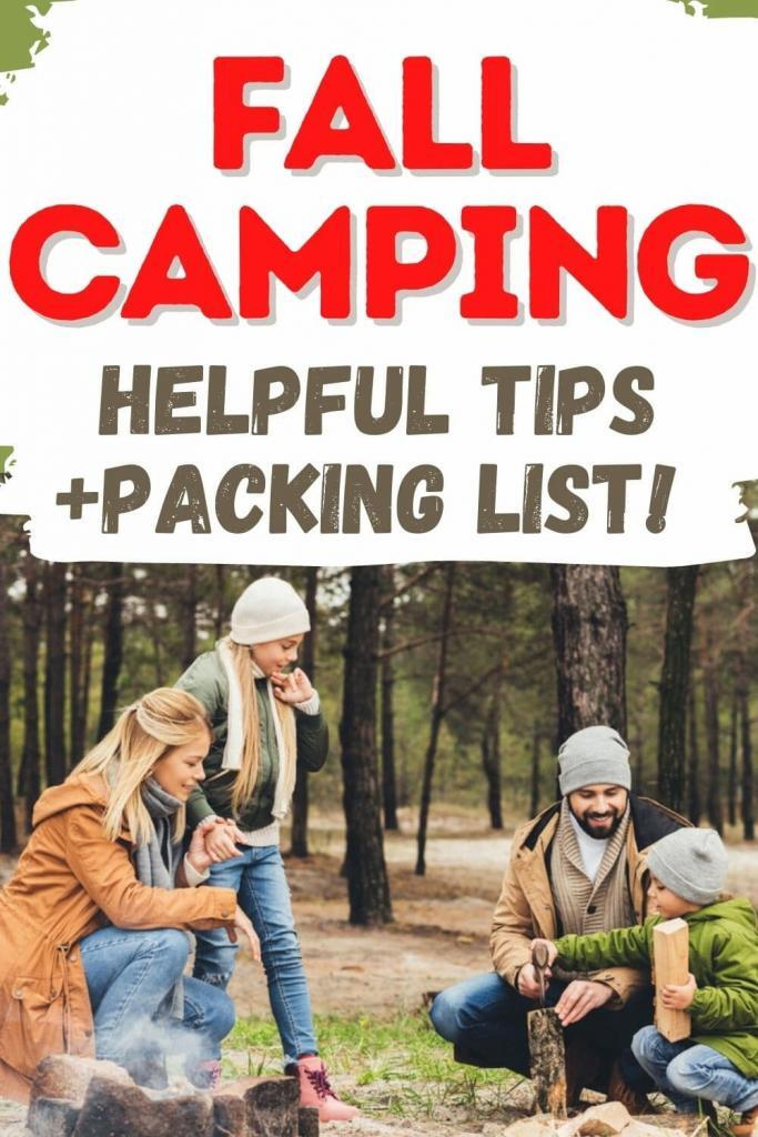 fall camping tips and packing list